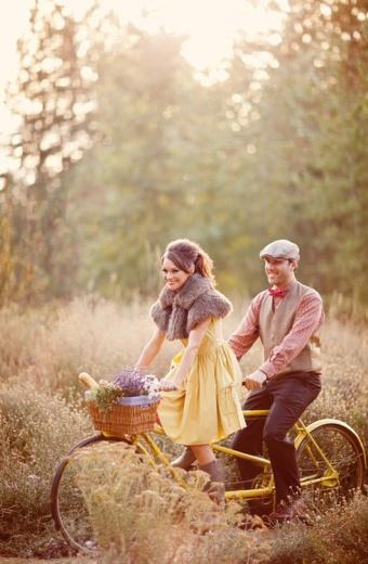pareja bici